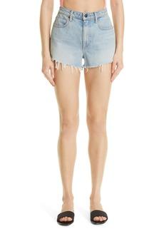 Women's Alexander Wang Bite High Waist Denim Shorts