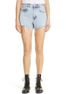 Women's Alexander Wang High Waist Dipped Denim Shorts