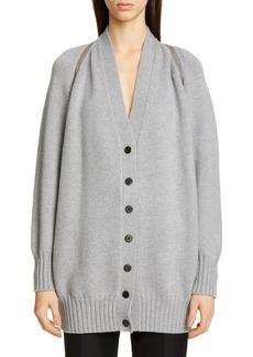 Women's Alexander Wang Zip Shoulder Merino Wool Cardigan