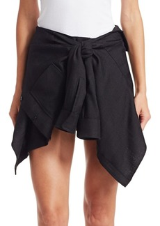 Alexander Wang Wool Faux Tie-Front Shorts