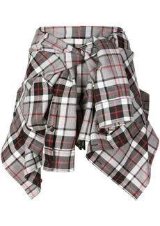 Alexander Wang wrapped around shirt skirt
