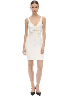 Alexander Wang Wrapped Crepe & Jersey Mini Dress