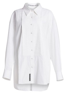 Alexander Wang XL Cotton Tuxedo Shirt