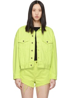 Alexander Wang Yellow Denim Game Jacket