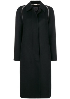 Alexander Wang zip detail single-breasted coat