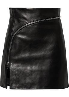 Alexander Wang Zip-detailed Twill Mini Skirt