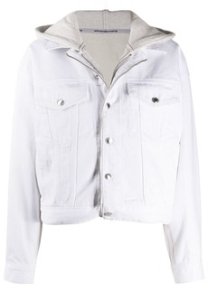 Alexander Wang zip-up hoodie denim jacket