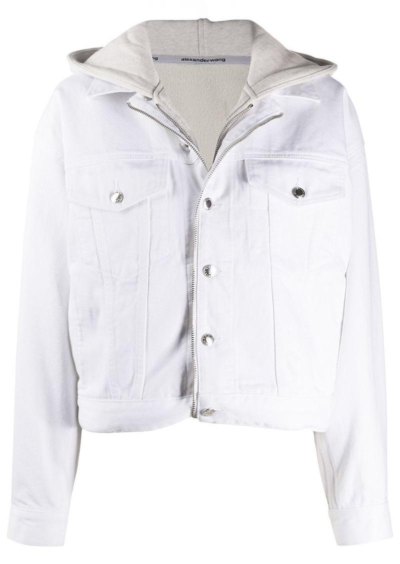 Alexander Wang zip-up hoodie denim jacket