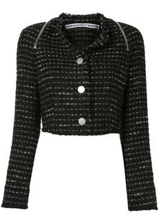 Alexander Wang zipped detail tweed cropped jacket