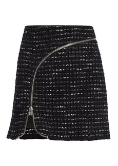 Alexander Wang Zipper-Trimmed Tweed Mini Skirt