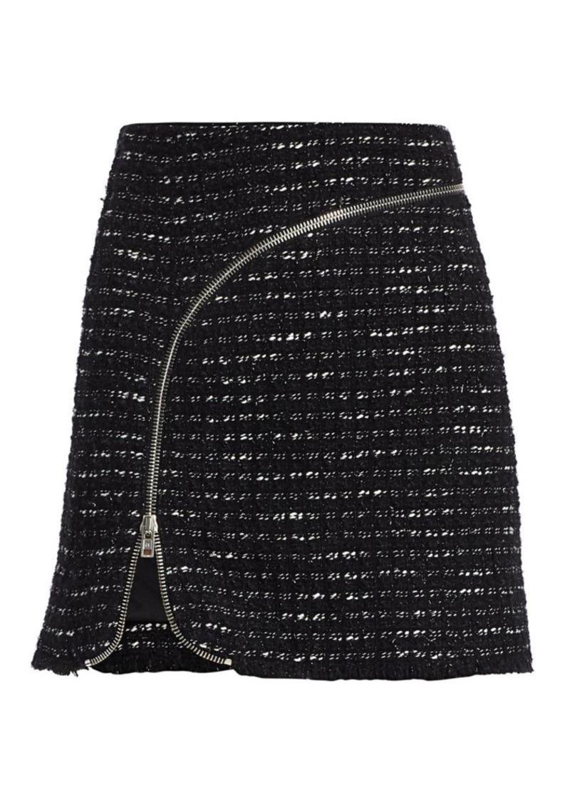 Alexander Wang Zipper-Trimmed Tweed Mini Skirt