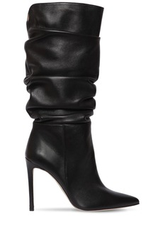 Alexandre Birman 100mm Lucy Slouchy Leather Boots