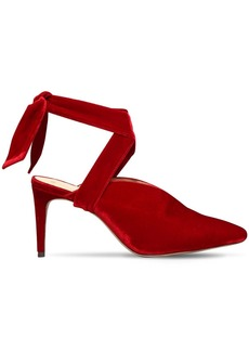Alexandre Birman 85mm Sally Lace-up Velvet Sandals