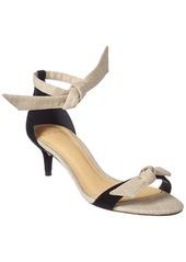 Alexandre Birman Clarita 50 Suede & Canvas Sandal