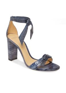 Alexandre Birman Clarita Block Genuine Snakeskin Ankle Tie Sandal (Women)