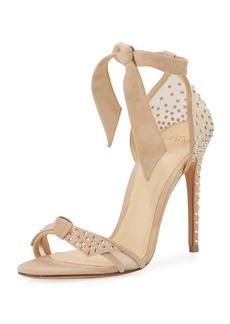 Alexandre Birman Clarita Crystal-Studded Suede Sandal