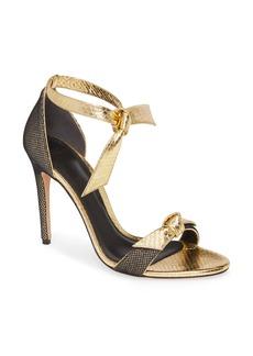 Alexandre Birman Clarita Fab Genuine Snakeskin Ankle Tie Sandal (Women)
