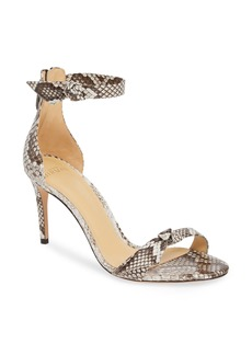 Alexandre Birman Clarita Genuine Python Ankle Tie Sandal (Women)