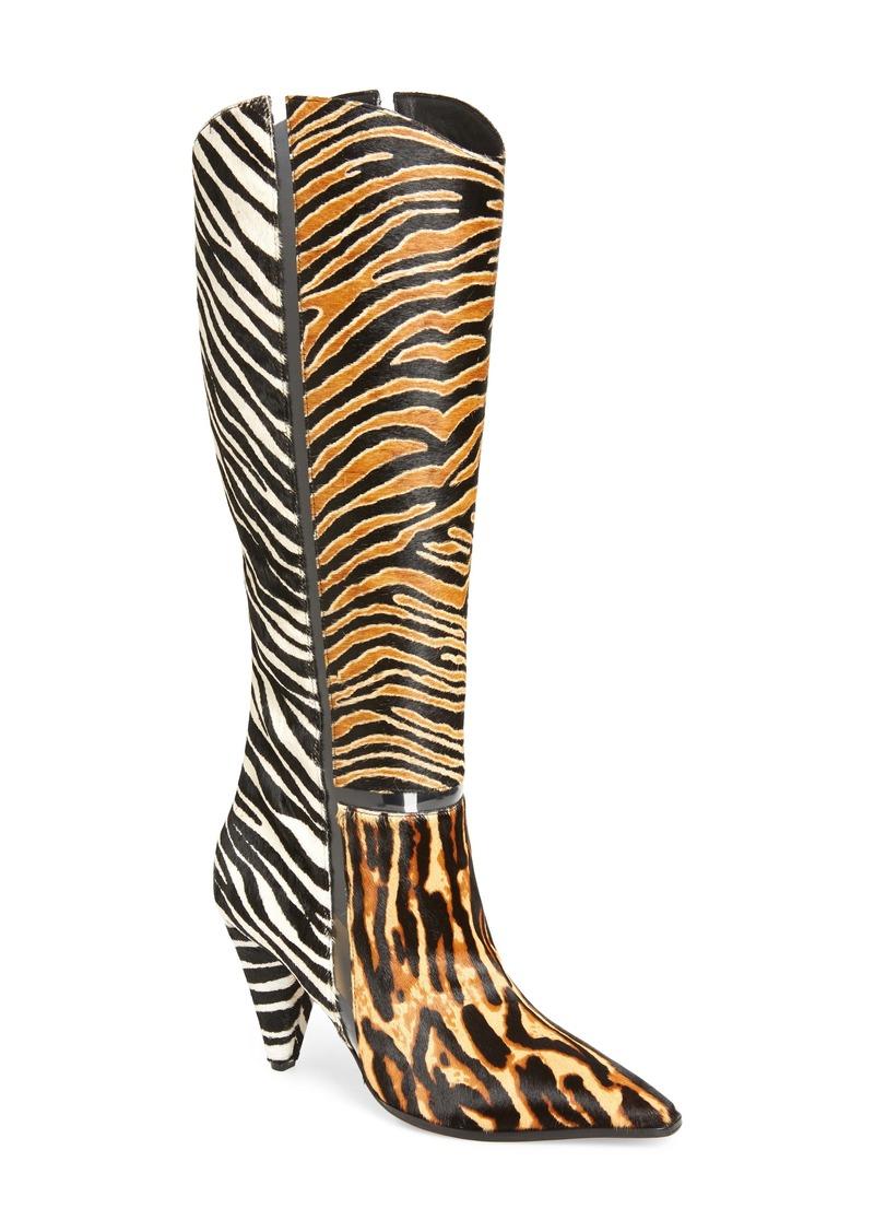 Alexandre Birman Dora Animal Print Genuine Calf Hair Boot (Women)