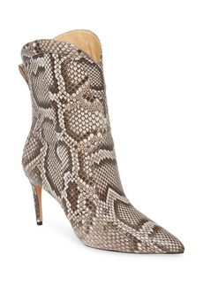 Alexandre Birman Esther Genuine Python Pointed Toe Boot (Women)
