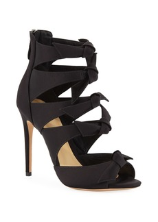Alexandre Birman Fetish Satin Bow Sandals
