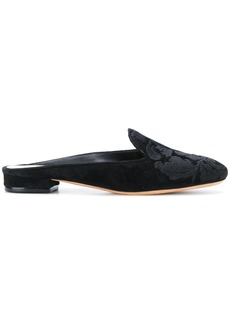Alexandre Birman floral embossed slippers