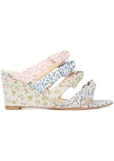 Alexandre Birman floral strappy wedges - Multicolour