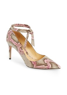 Alexandre Birman New Clarita Genuine Python Ankle Strap Pump (Women)