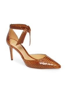 Alexandre Birman New Clarita Genuine Snakeskin Ankle Strap Pump (Women)
