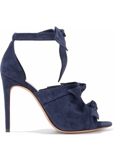 Alexandre Birman Woman Charlie Knotted Suede Sandals Navy