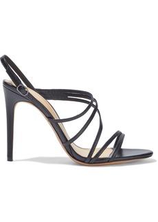 Alexandre Birman Woman Leather Slingback Sandals Black