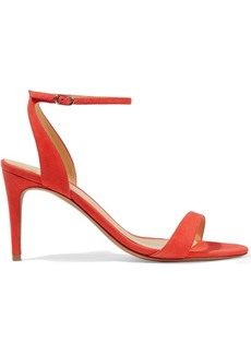 Alexandre Birman Woman Santine 75 Suede Sandals Orange