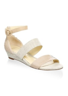 Alexandre Birman Ankle Strap Wedge Sandals