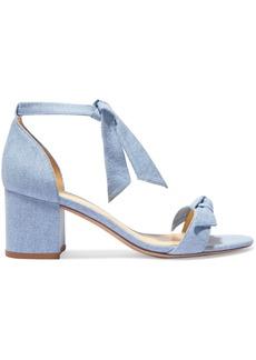 Alexandre Birman Clarita Bow-embellished Denim Sandals