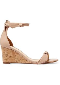 Alexandre Birman Clarita Bow-embellished Leather Wedge Sandals