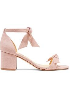 Alexandre Birman Clarita Bow-embellished Linen Sandals