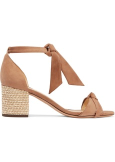 Alexandre Birman Clarita Bow-embellished Suede And Bouclé Sandals
