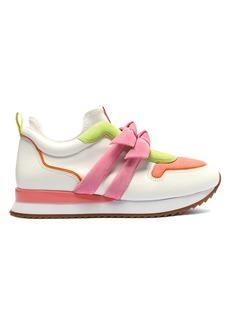 Alexandre Birman Clarita Neon Leather Sneakers