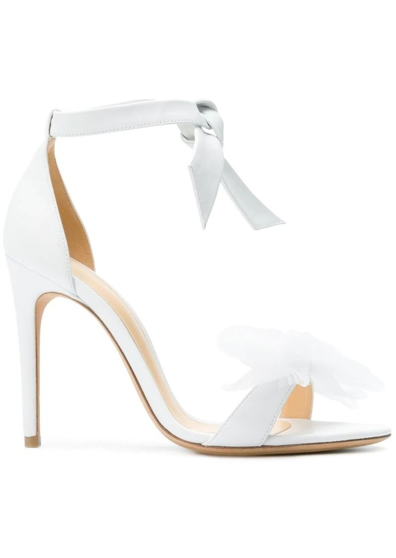 Alexandre Birman crenoline bow open toe pumps