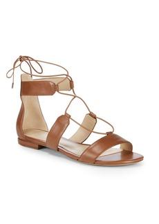 Alexandre Birman Leather Lace-Up Sandals