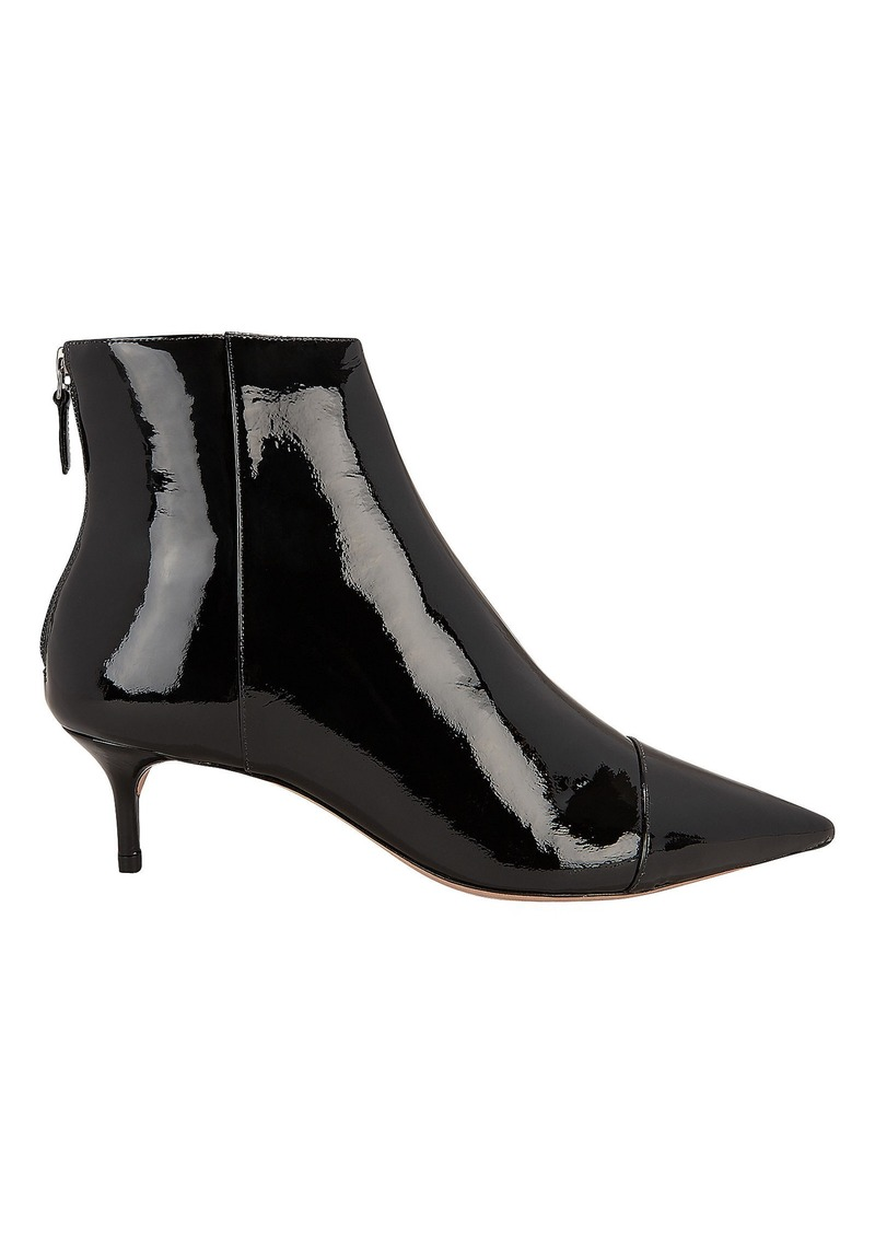 Alexandre Birman Patent Leather Kitten Booties
