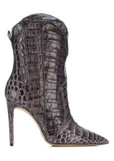 Alexandre Birman snakeskin effect boots