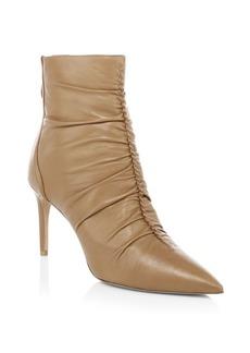 Alexandre Birman Susanna Ruched Leather Bootie