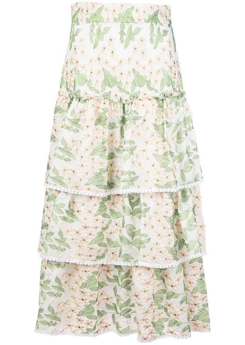 Alexis Aditya flared skirt