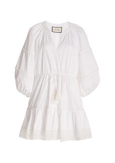 Alexis - Women's Daksha Cotton Mini Dress     - Blue/white - Moda Operandi