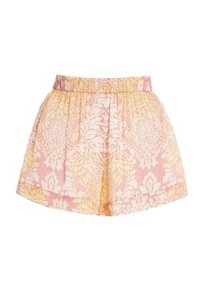 Alexis - Women's Darra Printed Satin Mini Shorts - Pink/light Blue - Moda Operandi