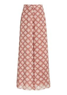 Alexis - Women's Elazar Printed Chiffon Wide-Leg Pants - Print/multi - Moda Operandi
