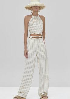 Alexis - Women's Onida Striped Poplin Top - White - Moda Operandi