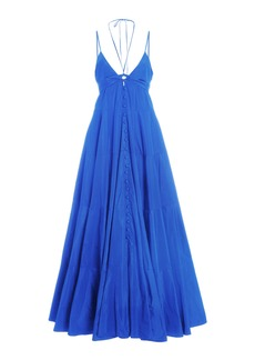 Alexis - Women's Sabelle Tiered Maxi Dress - Black/blue - Moda Operandi