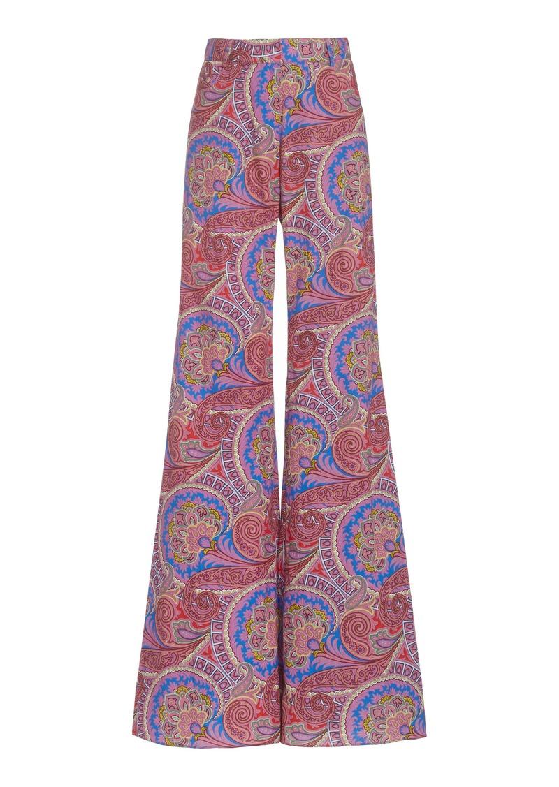 Alexis - Women's Salima Paisley Cotton-Twill Flared-Leg Pants - Purple/yellow - Moda Operandi